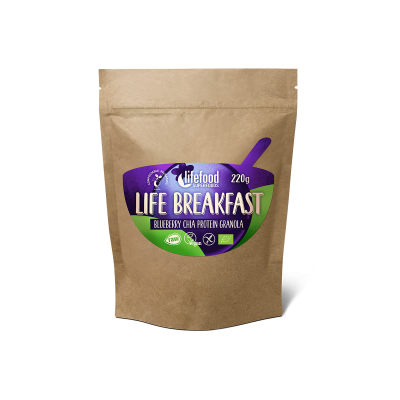 Raw Organic LIFE BREAKFAST Granola Blueberry Chia Protein