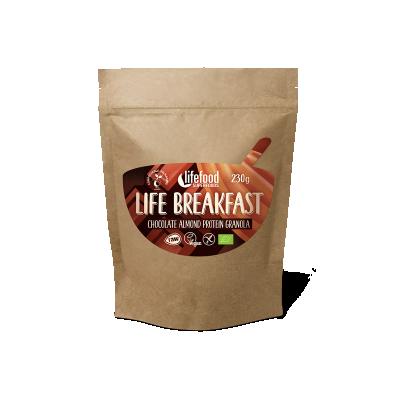 Raw Organic LIFE BREAKFAST Granola Chocolate Almond Protein