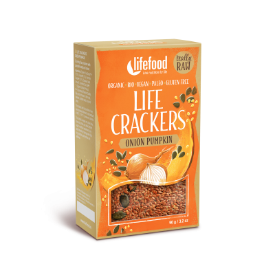 Raw Organic Onion Pumpkin Life Crackers