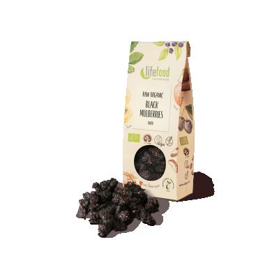 Raw Organic Dried Black Mulberries