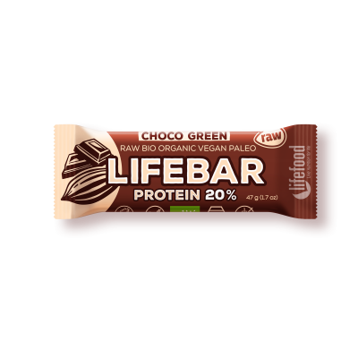 Raw Organic Lifebar Protein Chocolate Green