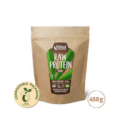 Raw Organic Hemp Power Protein Superfood Powder 450 g