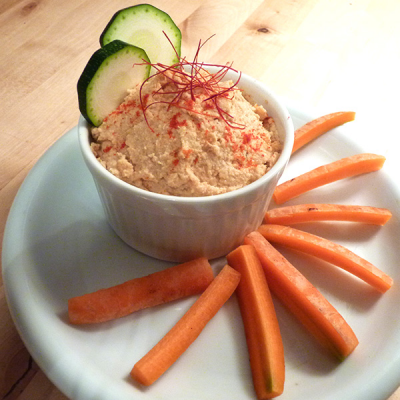 Sprouted Chickpea Hummus Dip