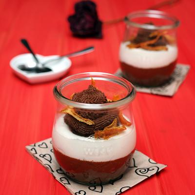Light Orange & Chocolate Mousse
