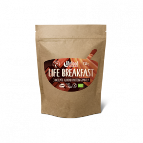 Raw Organic LIFE BREAKFAST Granola Chocolate Almond Protein