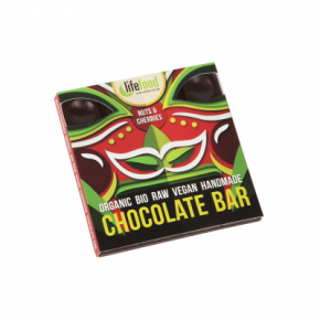 Raw Organic Nuts & Cherries Chocolate 35g
