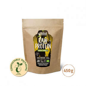 Raw Organic Green Vanilla Protein Superfood Powder 450 g