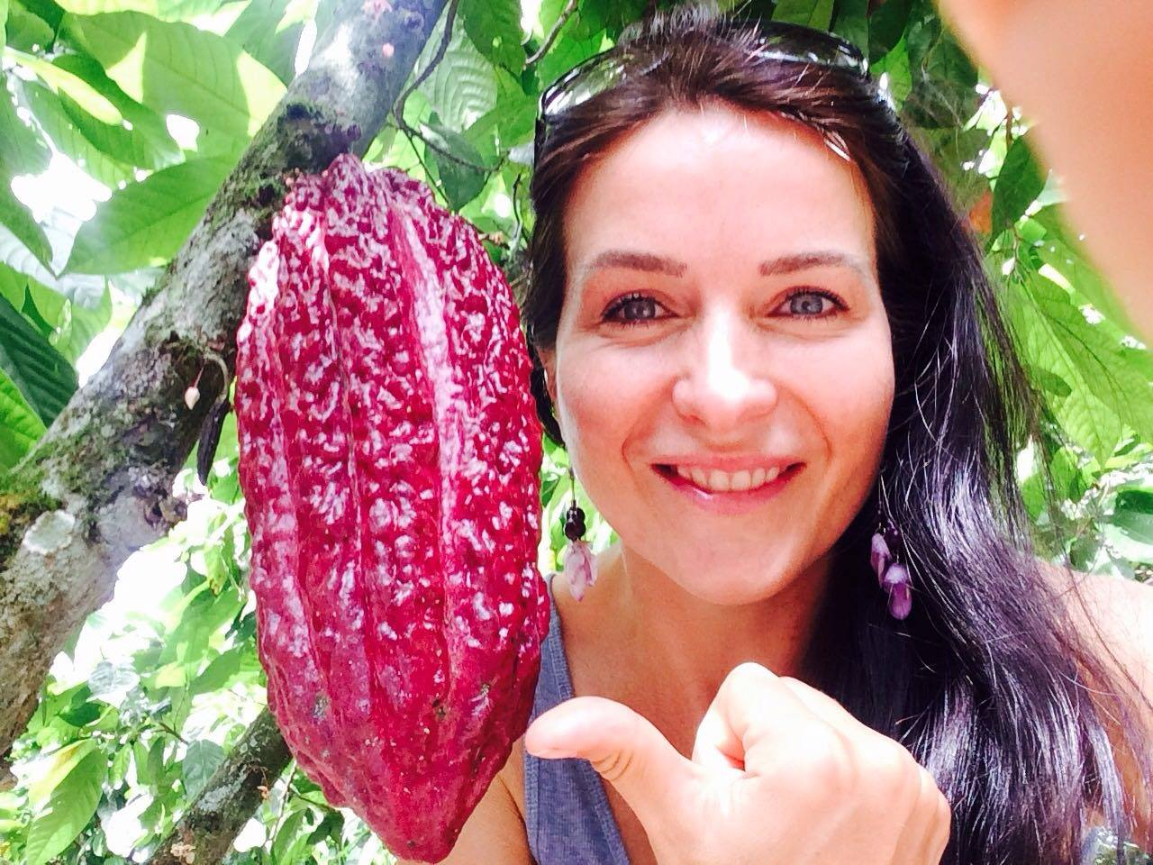 Tereza Havrlandova, Lifefood founder, and a cacao bean
