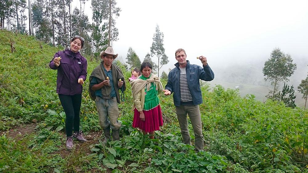 In Peru with farmers