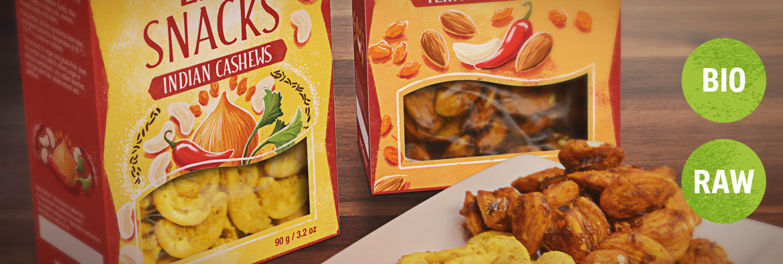 Herzhafte rohe Snacks