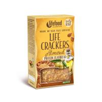 Raw Organic LIFE CRACKERS Almond Protein Flatbread 80 g